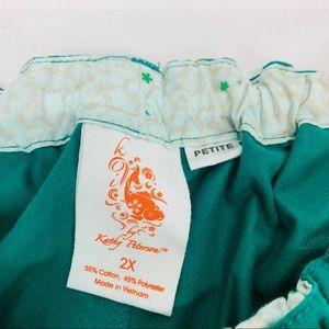 koi Other - Koi By Kathy Peterson Womens Scrubs Green Sz 2XLP